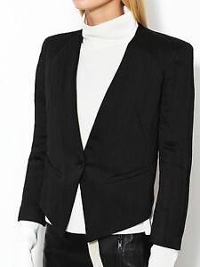 Helmut Lang Puckered Satin Smoking Tux Blazer Jacket Size 0 - $495