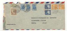 Colombie 9 timbres sur devant de lettre 1949 tampon Correo Aereo  /FDCag10