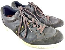 Ecco Mens Size Eu 45 US 11-11.5 Street Golf Shoes Brown Leather Spikeless 140-1