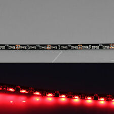"Red 12"" 30cm 30SMD Thin Side Glow LED Car Decoration Neon Strip Flexible Light"