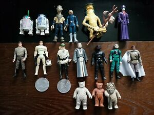 Vintage Star Wars 1985 last 17 joblot bundle plus more rare figures & 2 coins