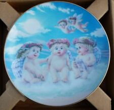 """Dreamsicles 8.5"""" Plate The Flying Lesson Decorative Collectible Angels Cherubs"""