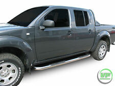 Nissan Navara D40 2005-2015 barres latérales chrome inox Side Steps