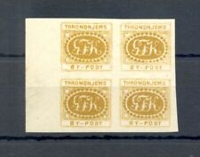 NORWAY BYPOST LOCAL 1867 THRONDHJEMS--4 STAMPS - BLOCK OF 4 --** MNH VF