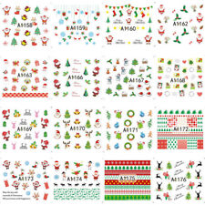 24 X Christmas DIY 3d Nail Art Stickers Snowflakes & Cute Snowman Nail Decals