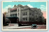 Binghampton, NY - EARLY VIEW OF KALURAH TEMPLE & OLD CAR - Postcard - A1