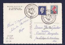 p/ carte  salon international des plastiques  01 Oyonnax  1961