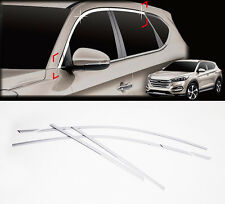 Chrome Top Window Accent Line Garnish Molding Trim 6p For 2016 Hyundai Tucson