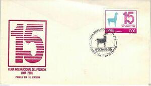 Peru 1984 FDC 15 Feria Internacional del Pacifico Lima