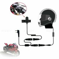 2PIN Full Face Helmet Motorcycle Race Headset For Baofeng BF-888S PUXING PX-777