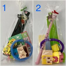 10x Pre-filled Party Bag Birthday Loot Lolly Goody Stationery Eraser Pen Bulk
