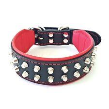 """Bestia """"Rocky"""" studded leather dog collar. XXS to XXL size. Hand made by Bestia"""