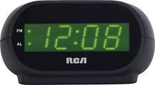 Corded Electric Digital Single Alarm Clock LED Display Built In Night Light New