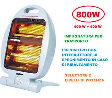 STUFA STUFETTA ELETTRICA ALOGENA AL QUARZO BLINKY JAPO 800 WATT 400 X 2 LAMPADE