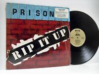 PRISONER rip it up LP EX+/EX- 72166-1, vinyl, album, & lyric insert, heavy metal