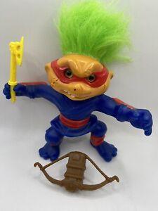 1992 Hasbro Original Battle Trolls Nunchuk Troll Action Figure With Accessories