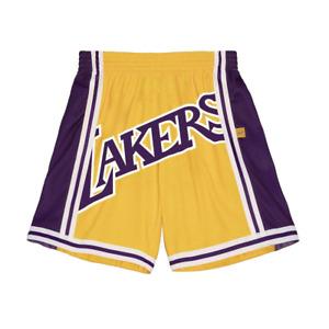 Men's Mitchell & Ness Gold/Purple NBA Los Angeles Lakers Big Face 2.0 Blownout