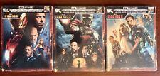 Iron Man Trilogy 1,2,3 Steelbook Lot (4K UHD/Blu-ray/Digital) Factory Sealed