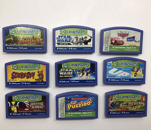 Lot of 9LeapFrog Leapster K-2nd Grade Learning Game Cartridge Ages 5-8 StarWars