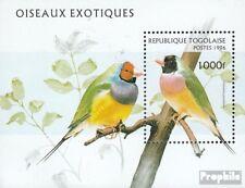 Togo block400 mint never hinged mnh 1996 Birds
