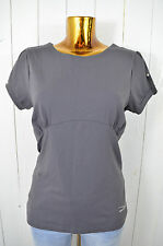 VENICE BEACH Damen T-Shirt Top Firness Grau Rundhals Kurzarm Elasthan Gr. M