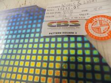 "Dichroic Glass:CBS 90 COE Square #3 Pattern on Flat Black - 13 Pcs.  3""Sq"