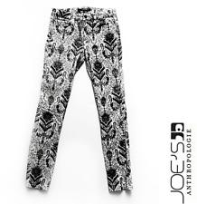 Premium JOES Velvet Embellished Black & White Pattern Skinny Jeans Ltd Edition 4