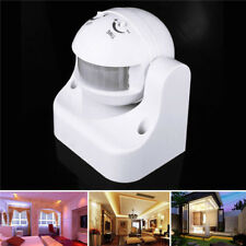 Outdoor White 180° Degree Security PIR Motion Movement Sensor Detector Switch