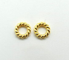 50 Pieces Jump Ring Closed Twisted Wire 19 Gauge Wire Gold Overlay 5mm  Round