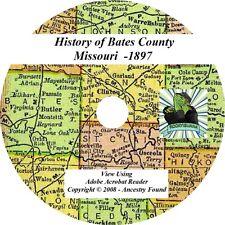 1897 History & Genealogy of BATES County Missouri MO