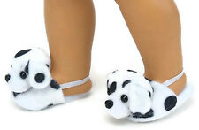 Dalmatian Mule Slipper Shoes for 18 inch American Girl Doll Clothes Accessories