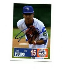Joey Pullido 2018 Bluefield Blue Jays auto signed team rookie card Clute TX