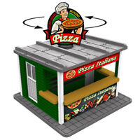 O Gauge Pizza Stand w/Motorized Rotating Banner and Lighting