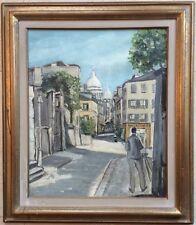 E.Mollin Ec.Fr Xxème Montmartre Paris Rue Norvins Hst 46/38 Cm