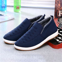 Men Casual Shoes Fur Lining Loafers Soft Sole Warm Outdoor Indoor Winter
