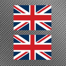 """2x United Kingdom Flag 4"""" Sticker Vinyl Union Jack British Die Cut Decals UK"""