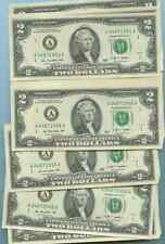 ONE BIRTHDAY ANNIVERSARY YEAR TWO DOLLAR BILL MINT UNC ALL YEARS 1900-2000  2.00