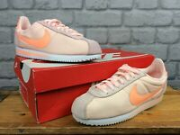 NIKE LADIES CORTEZ PINK CORAL NYLON SUEDE TRAINERS VARIOUS SIZES RRP £65 T