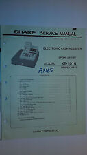 Sharp xe-1016 service manual original repair book cash register money drawer
