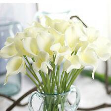 Artificial Calla Lily Home Wedding Flower Bouquet Decor Photo Prop-Milky WHT