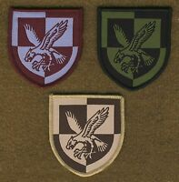 BRITISH ARMY SURPLUS 16th AIR ASSAULT BRIGADE WOVEN PATCH,MAROON,DESERT,OG,TRF