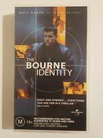 The Bourne Identity - VHS PAL Video Tape - Matt Damon - Universal Studios