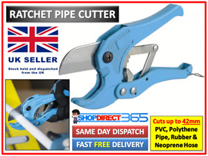 Ratchet Action 42mm Plastic Pipe Cutter Plumbing Tool PVC Water Tube Hose #24-17