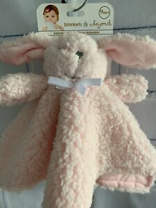 Blankets & Beyond Pink Bunny Baby Blanket 9 Months+ Fuzzy Sherpa Security Lovey