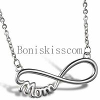 "Love Infinity "" Mom "" Charm Stainless Steel Pendant Necklace Mother's Day Gift"