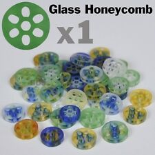 """Colored Glass Honeycomb Screen Pyrex Approx 3/8"""" 7-9mm x 2 mm New  Filter"""