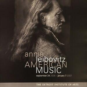 2007 ANNIE LIEBOVITZ exhibit poster-WILLIE NELSON--detroit institute arts--17x22