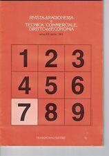 RIVISTA DI RAGIONERIA E TECNICA COMMERCIALE, DIRITTO ED ECONOMIA - N.7 - 04 1981