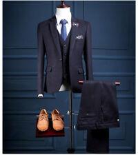 Men 3PCS Slim Fit Striped Suit Wedding Suit Groom TuxedosFormal Suit Custom Made