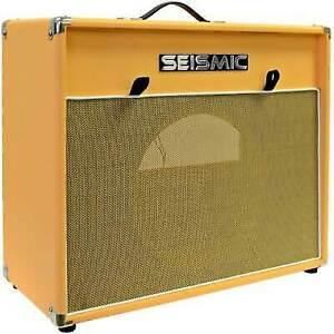 "Seismic Audio 1x12"" GUITAR SPEAKER CAB EMPTY Cabinet - Vintage Orange"